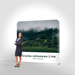 Ścianka reklamowa Tekstylna Prosta 2,4 x 2,4 m z wydrukiem dwustronnym