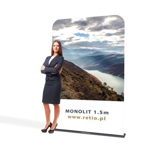 Ścianka reklamowa Tekstylna Monolith 1,5 x 2,3 m z wydrukiem jednostronnym