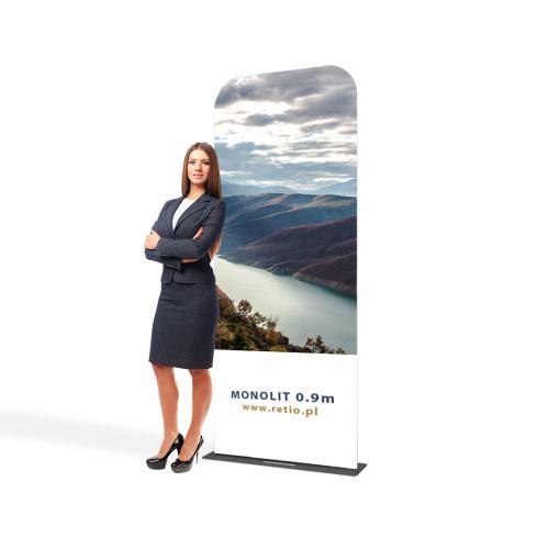 Inteligentny Stand reklamowy Tekstylny Monolith 0,9 x 2,3 m z wydrukiem ES09
