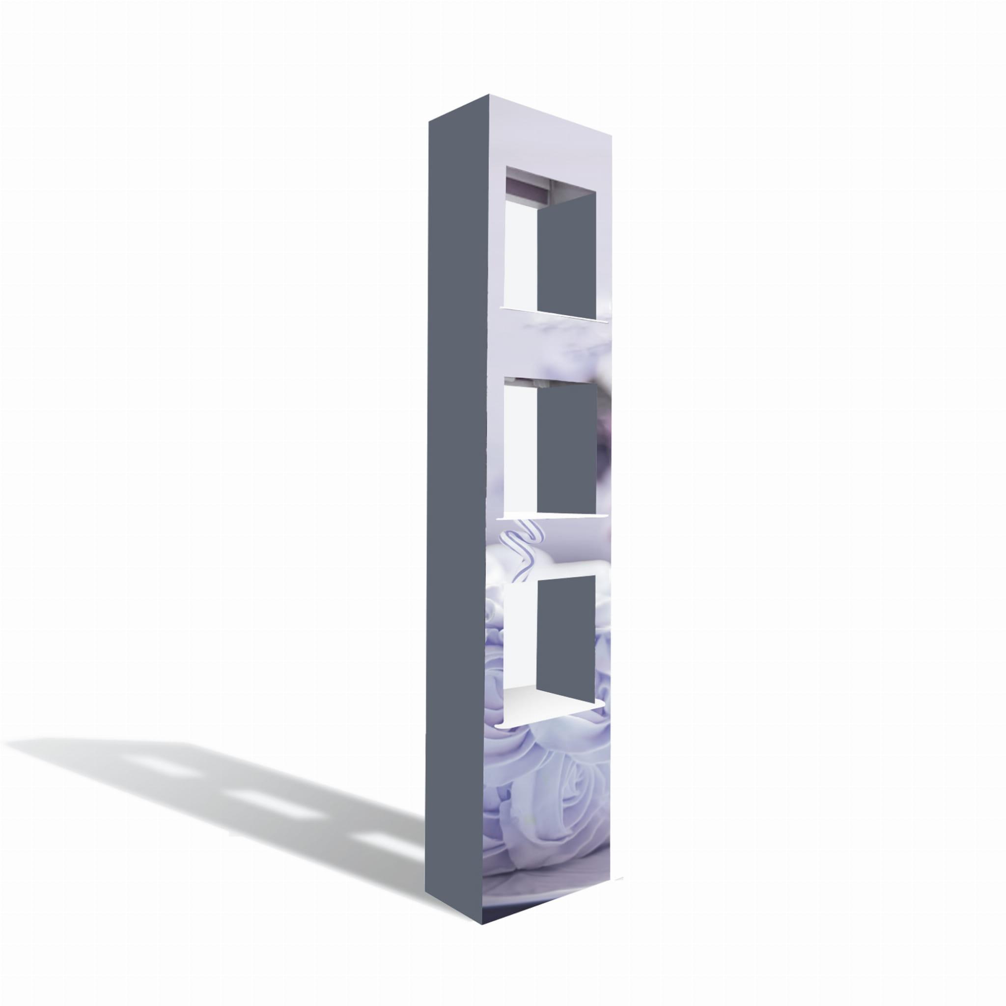 Kartonowy Ekspozytor Stojący Z Półkami 33x156cm